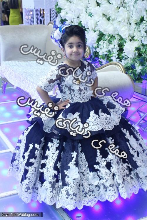 لباس از پیج هیرا که خیییییییییییییییییییییلی خوشکل بود لباس پرنسسی دخترانه زیبا هیرا مزون پفی صورمه ای گلدار ملکه ای بچگانه حلما