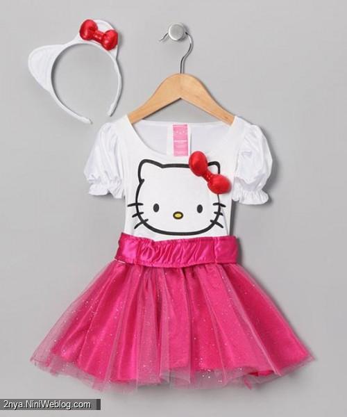 kitty pink مدل لباس کیتی صورتی دخترانه بچگانه جشن 1000روزگی
