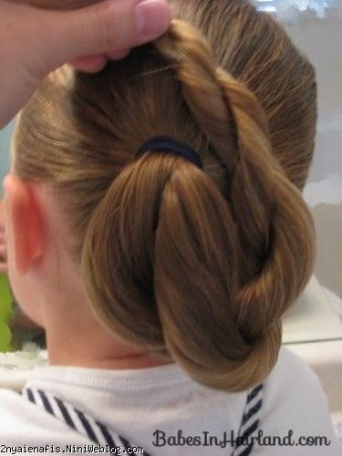 جمع کردن آسان مو به شکل گل