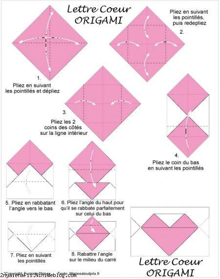 پاکت نامه قلبی آموزش یک پاکت زیبا بشکل قلب Origami Heart's Letter