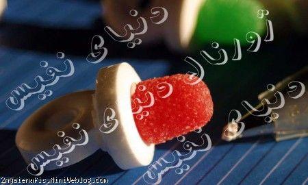 آبنبات کودک بشکل پستونک پستونک بچه شکلات آبنبات پستانک آموزش تهیه آبنبات پستانکی آموزش ساختن آبنبات پستونکی how to make a candy pacifier