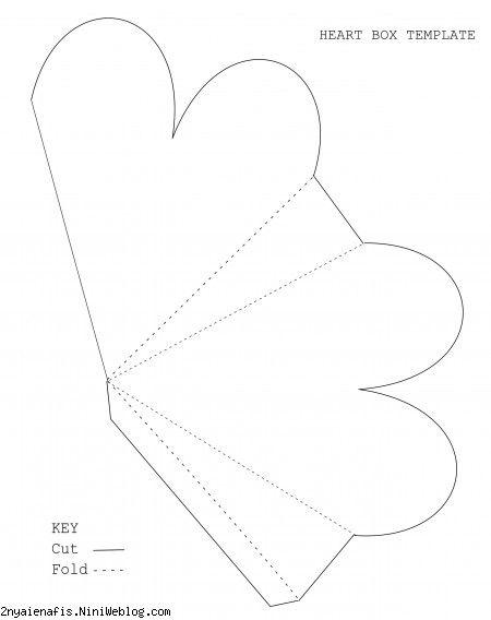 الگوی جعبه کادوهای قلبی شکل 1 + الگو قابل پرینت Valentine Gift Box Printables