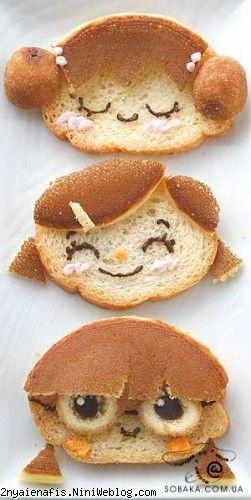 تزيين غذاي كودك تزیین ساندویچ