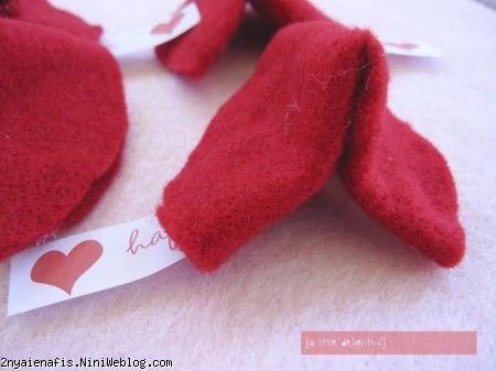 valentine's day fortune cookies  تگ های روی غذا - میزآرایی روز عشق + فایل Pdf