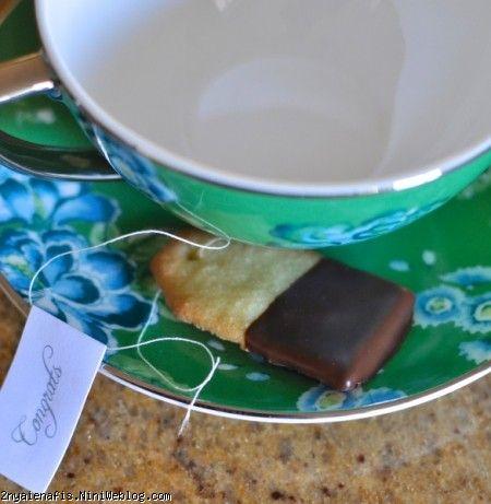طرز تهیه دستور بیسکویت به شکل تی بگ Tea bag biscuits