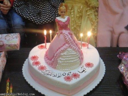 کیک پرنسسی تولد چهارسالگی