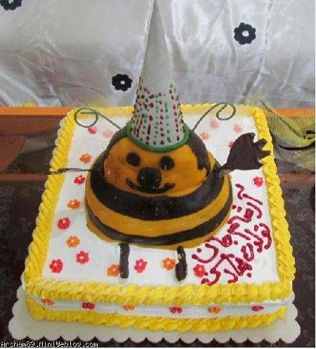 کیک تولد زنبوری