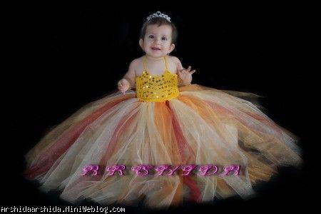 لباس نیم تنه با دامن فن کودک من | آموزش دامن توتوی بلند