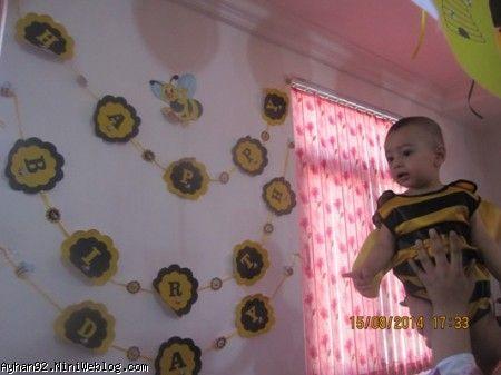 تولد 1 سالگی آیهان جون با تم زنبوری