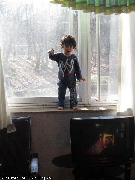 بردیا کنار پنجره