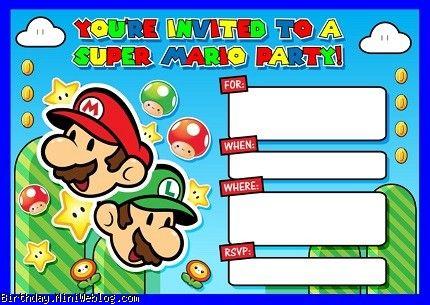 کارت دعوت ماریو