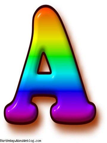 حروف الفبای رنگین کمان