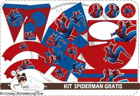 ست تزئینات تولد مرد عنکبوتی