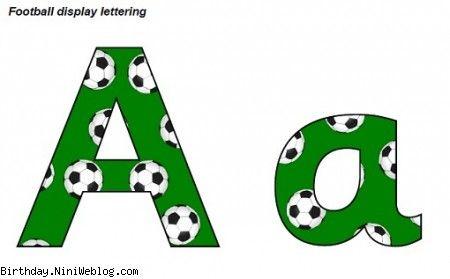 حروف الفبای فوتبال