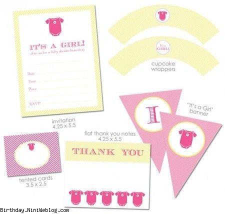 ست تزئینات Baby shower نوزاد دختر