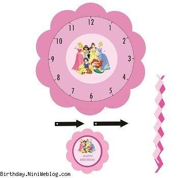 ساعت تولد پرنسس های دیزنی