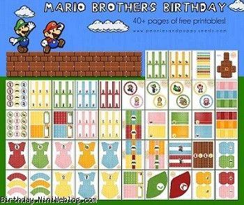 ست تزئینات تولد برادران ماریو