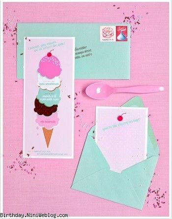 کارت دعوت، کارت تشکر و تگ گیفت بستنی