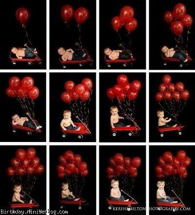 مدل های عکاسی ماه به ماه از نوزاد