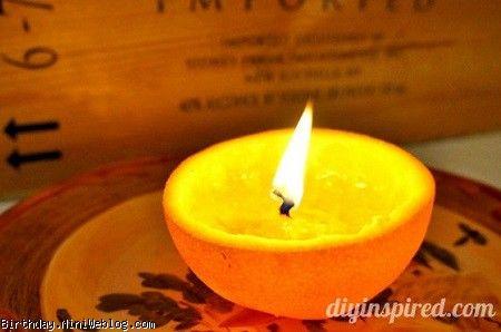 یک جاشمعی زیبا با پرتقال درست کنید