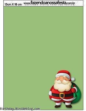 کارت دعوت و پاکت دعوت نامه بابانوئل