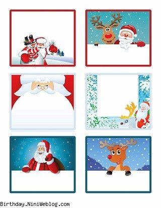 لیبل های بابانوئل و کریسمس