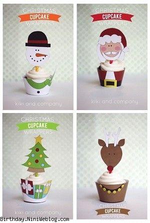 تاپر و لینر کاپ کیک کریسمس