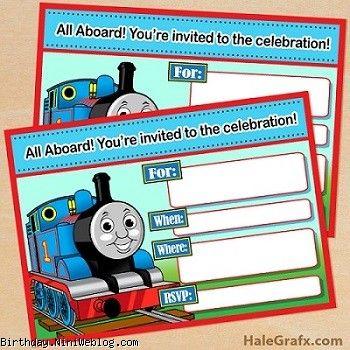 کارت دعوت تولد تم قطار توماس