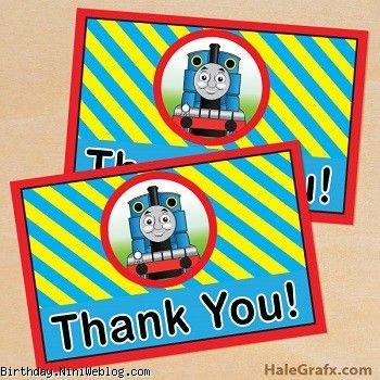 کارت تشکر قطار توماس
