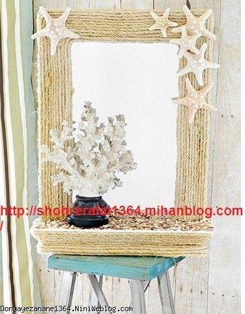 تزیین آینه با نگین و مروارید اسگو