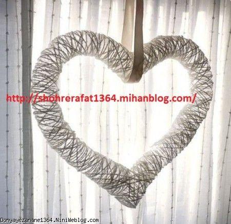 درست کردن قلب با کاموا و بادکنک