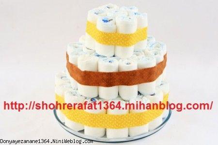 کیک پوشک 3