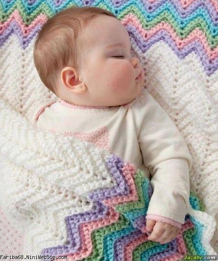 طرز بافت لباس سرهمی برای نوزاد