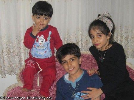 عسل ، مهرزاد ، مهبد در خانه ي خاله الهام 2 فروردين