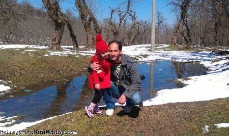 هلیا و بابایی و برف