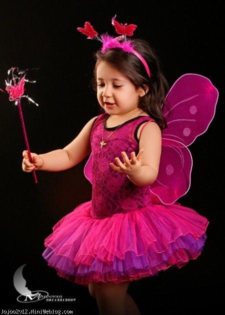 لباس زیبای دخترانه تم پروانه با ویانای من