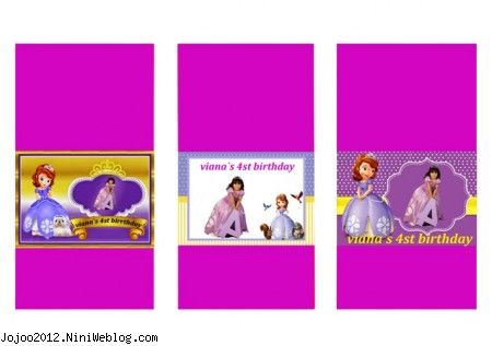 تم تولد پرنسس صوفیا در جشن تولد ویانا PRINCCES SOFIA کاغذ شکلات صوفیا