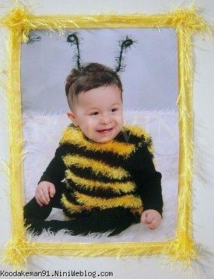 کاردستی بچه 5 ساله جشن تولد رادوین با تم زنبور