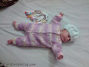 ژاکت نوزاد بافتنی