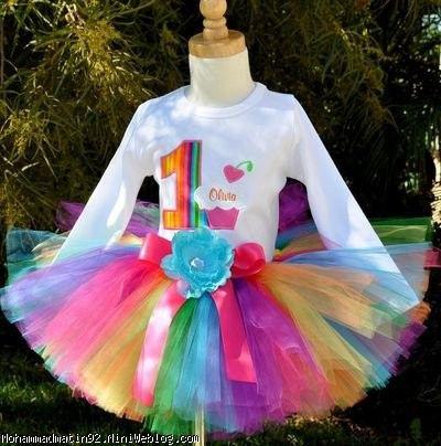 لباس براي تم رنگين كمان