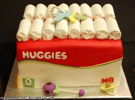 کیک تولد پوشک هاگیز