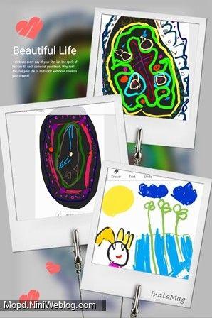 نقاشی های دیانا  به کمک قلم موبایل داخل گوشی (تابستان 96)