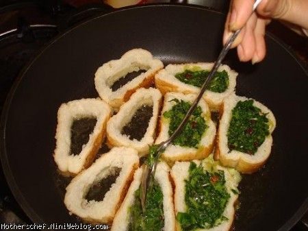 رولت کوکو سبزی با نان باگت