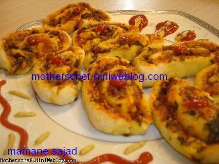 پیتزا حلزونی