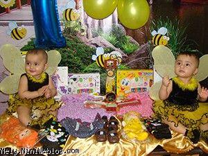 تولد 1 سالگی ملودی و ملینای عزیز با تم زنبوری
