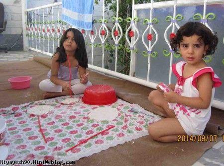 آرد بازی به همراه دخترخاله ضحا