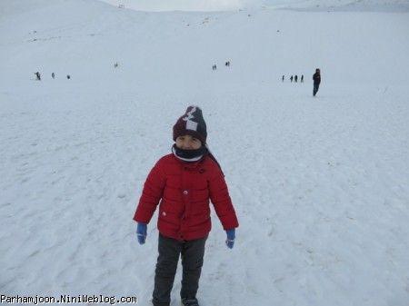 پرهام در برف