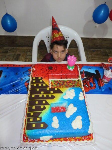 کیک تولد اسپایدرمن