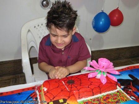 بریدن کیک تولداسپایدرمن
