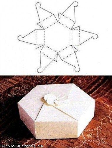 ساخت انواع جعبه هدیه با الگو